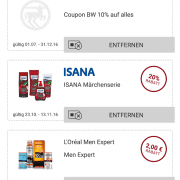 Screenshot Rossmann App