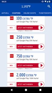 Schnäppchen: Bis zu 20% Rabatt auf Google Play Guthaben 1