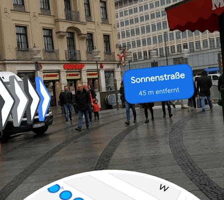 Google Maps Augmented Reality - Navigation startet in Deutschland 7