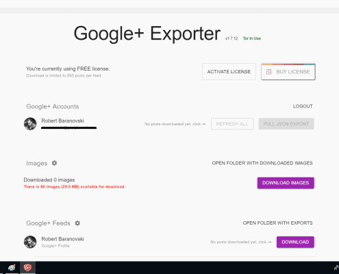 Google+ Exporter Schreenshot 03