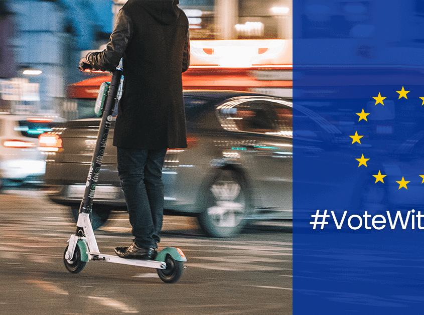 Kostenlose eBike/eScooter-Fahrt zur EU-Wahl 2019