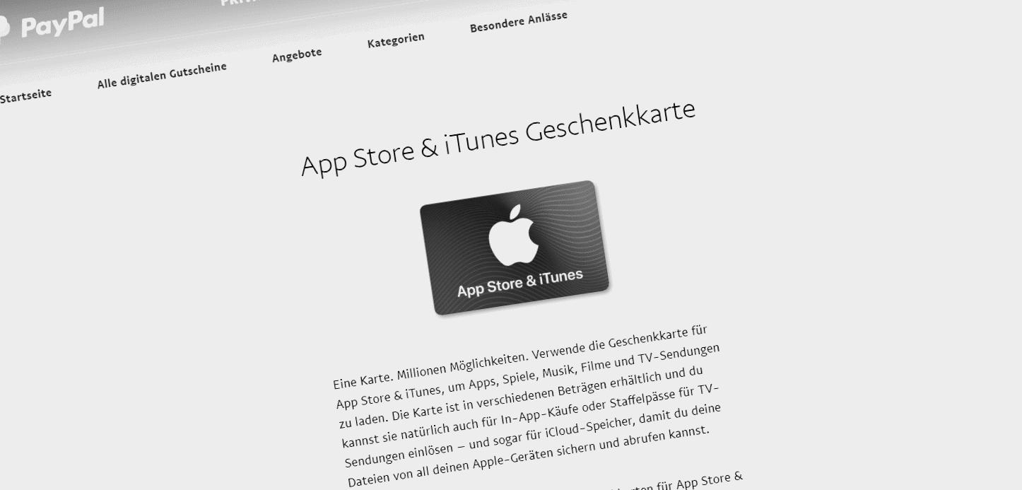 Schnäppchen: 15% Bonus bei Apple iTunes Guthaben via Paypal [Update]