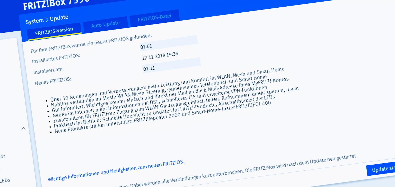 AVM veröffentlicht FRITZ!OS 7.11 für die FRITZ!Box 7590