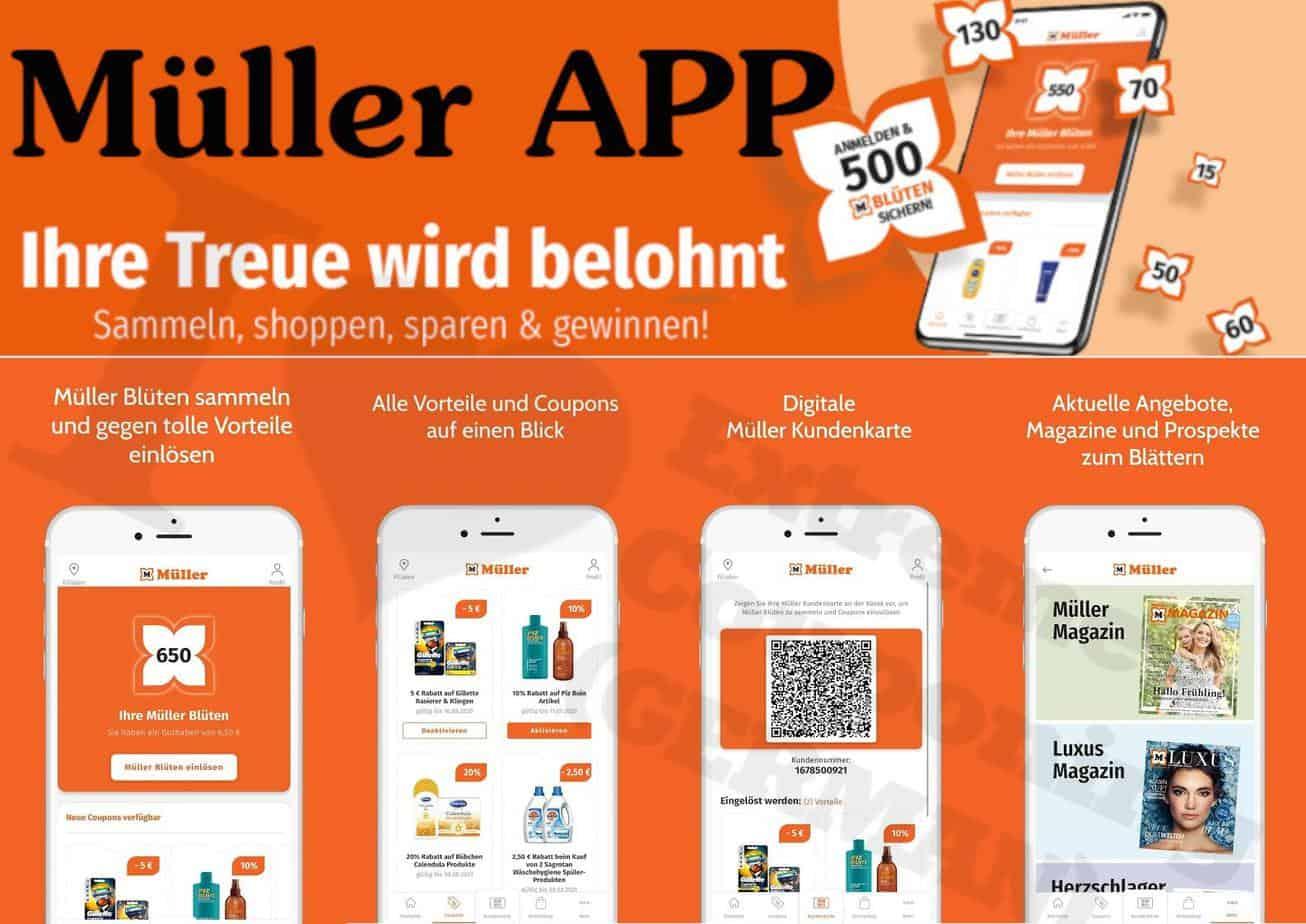 Drogerie Müller veröffentlicht seine neue Rabatt-App