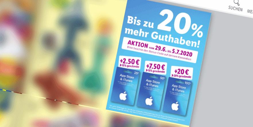 Bis zu 20% extra Guthaben für Apple AppStore & iTunes Geschenkkarten
