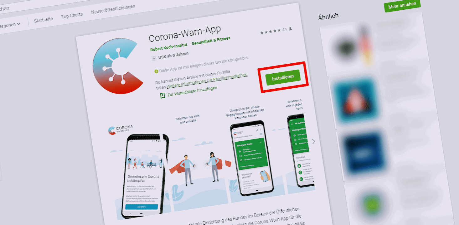 Die Corona-Warn-App ist ab sofort verfügbar!