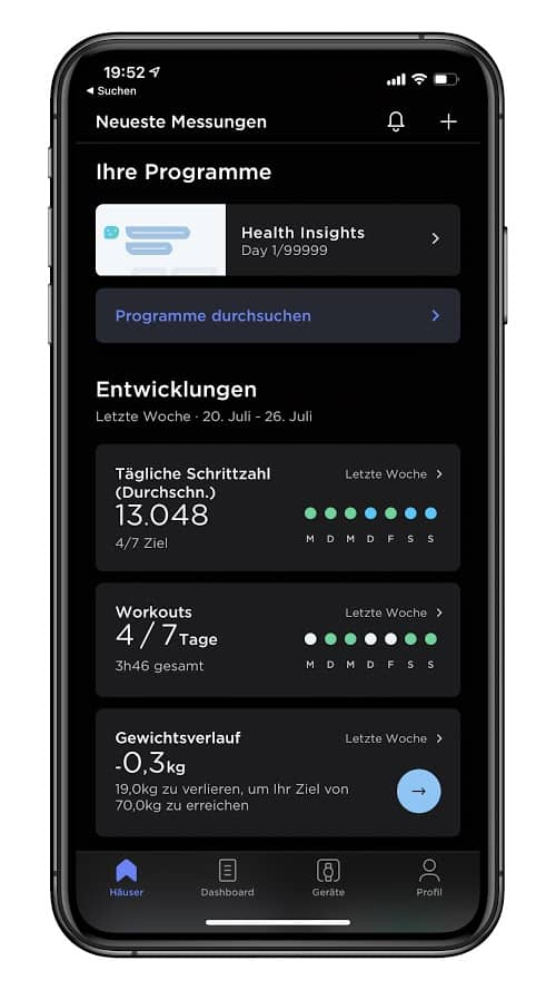 Withings Health Mate Screen 02