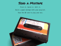 sendamixtape: Streaming-Playlist als (Papier) Audiokassette