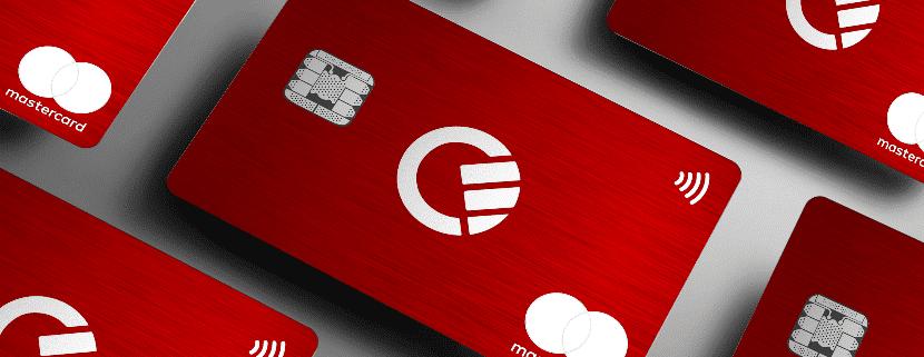 Curve Red Metallkarte
